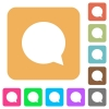 Chat rounded square flat icons - Chat flat icons on rounded square vivid color backgrounds.