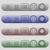 Binary code icons on menu bars - Binary code icons on rounded horizontal menu bars in different colors and button styles