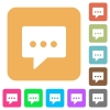 Working chat rounded square flat icons - Working chat flat icons on rounded square vivid color backgrounds.