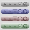 Network icons on menu bars - Network icons on rounded horizontal menu bars in different colors and button styles