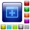 Move window color square buttons - Move window icons in rounded square color glossy button set