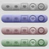 Money bags icons on menu bars - Money bags icons on rounded horizontal menu bars in different colors and button styles