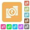 Indian Rupee coins rounded square flat icons - Indian Rupee coins flat icons on rounded square vivid color backgrounds.