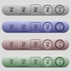 Longdrink icons on menu bars - Longdrink icons on rounded horizontal menu bars in different colors and button styles