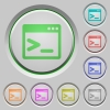 Command prompt push buttons - Command prompt color icons on sunk push buttons