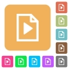 Playlist flat icons on rounded square vivid color backgrounds. - Playlist rounded square flat icons