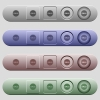 Sale badge icons on menu bars - Sale badge icons on rounded horizontal menu bars in different colors and button styles