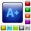 Increase font size color square buttons - Increase font size icons in rounded square color glossy button set