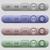 RAM module icons on menu bars - RAM module icons on rounded horizontal menu bars in different colors and button styles