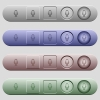 Microphone icons on menu bars - Microphone icons on rounded horizontal menu bars in different colors and button styles