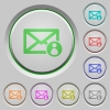 Mail sender push buttons - Mail sender color icons on sunk push buttons