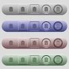 Notes icons on menu bars - Notes icons on rounded horizontal menu bars in different colors and button styles