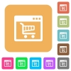 Webshop application rounded square flat icons - Webshop application flat icons on rounded square vivid color backgrounds.