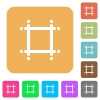 Adjust canvas size rounded square flat icons - Adjust canvas size flat icons on rounded square vivid color backgrounds.