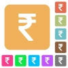 Indian Rupee sign rounded square flat icons - Indian Rupee sign flat icons on rounded square vivid color backgrounds.