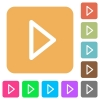 Media play rounded square flat icons - Media play flat icons on rounded square vivid color backgrounds.