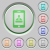 Mobile games push buttons - Mobile games color icons on sunk push buttons