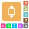 Height tool rounded square flat icons - Height tool flat icons on rounded square vivid color backgrounds.
