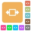 Width tool rounded square flat icons - Width tool flat icons on rounded square vivid color backgrounds.