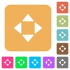 Control arrows rounded square flat icons - Control arrows flat icons on rounded square vivid color backgrounds.