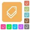 Tags rounded square flat icons - Tags flat icons on rounded square vivid color backgrounds.