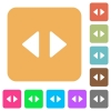 Horizontal control arrows rounded square flat icons - Horizontal control arrows flat icons on rounded square vivid color backgrounds.