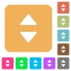 Vertical control arrows rounded square flat icons - Vertical control arrows flat icons on rounded square vivid color backgrounds.