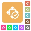 Accept size rounded square flat icons - Accept size flat icons on rounded square vivid color backgrounds.