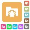 Bug folder rounded square flat icons - Bug folder flat icons on rounded square vivid color backgrounds.