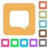 Message bubble rounded square flat icons - Message bubble flat icons on rounded square vivid color backgrounds.
