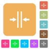 Adjust text column gutter rounded square flat icons - Adjust text column gutter flat icons on rounded square vivid color backgrounds.