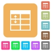 Spreadsheet adjust table row height rounded square flat icons - Spreadsheet adjust table row height flat icons on rounded square vivid color backgrounds.