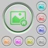 Default image push buttons - Default image color icons on sunk push buttons
