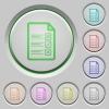 Questionnaire document push buttons - Questionnaire document color icons on sunk push buttons