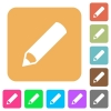 Pencil rounded square flat icons - Pencil flat icons on rounded square vivid color backgrounds.