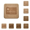 Member card wooden buttons - Member card on rounded square carved wooden button styles