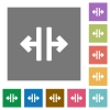 Vertical split square flat icons - Vertical split flat icons on simple color square backgrounds