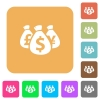 Money bags rounded square flat icons - Money bags flat icons on rounded square vivid color backgrounds.