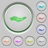 Human hand push buttons - Human hand color icons on sunk push buttons