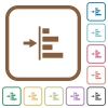 Increase left indentation of content simple icons - Increase left indentation of content simple icons in color rounded square frames on white background