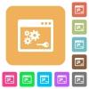 API key rounded square flat icons - API key flat icons on rounded square vivid color backgrounds.