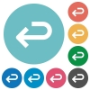 Back arrow flat round icons - Back arrow flat white icons on round color backgrounds