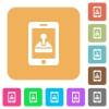 Mobile games rounded square flat icons - Mobile games flat icons on rounded square vivid color backgrounds.
