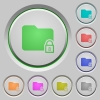 Locked folder push buttons - Locked folder color icons on sunk push buttons