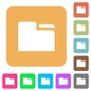 Tab folder rounded square flat icons - Tab folder flat icons on rounded square vivid color backgrounds.