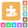 Share plugin rounded square flat icons - Share plugin flat icons on rounded square vivid color backgrounds.