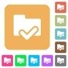 Folder ok rounded square flat icons - Folder ok flat icons on rounded square vivid color backgrounds.