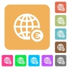 Online Euro payment rounded square flat icons - Online Euro payment flat icons on rounded square vivid color backgrounds.