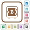 Bitcoin strong box flat round icons simple icons - Bitcoin strong box flat round icons simple icons in color rounded square frames on white background