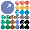 Maximize window round flat multi colored icons - Maximize window multi colored flat icons on round backgrounds. Included white, light and dark icon variations for hover and active status effects, and bonus shades on black backgounds.